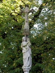 Croix de carrefour, à l'extrémité du pont - Français:   Croix de carrefour. 10260 Fouchères