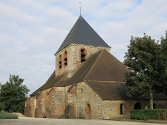 Eglise - English: Look from the abside side of the church of Mesnil-Saint-Père (Aube, France).