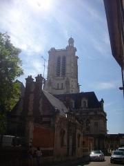 Abbaye Saint-Loup - Français:   Musée Saint-Loup et cathédrale de Troyes (Aube, France)