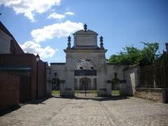 Abbaye Saint-Martin-ès-Aires - Français:   Ancienne abbaye Saint-Martin-ès-Aires de Troyes (Aube, France): portail rue Saint-Martin-ès-Aires