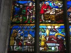 Eglise de la Madeleine et ancien cimetière - Vitrail de l'église de la Madeleine de Troyes (Aube, France)