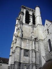 Eglise de la Madeleine et ancien cimetière - Église de la Madeleine de Troyes (Aube, France), clocher vu du jardin de l'ancien cimetière