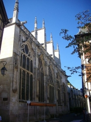 Eglise Saint-Jean - Français:   Église Saint-Jean-du-Marché de Troyes (Aube, France): flanc nord-ouest, rue Molé