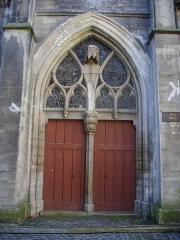 Eglise Saint-Jean - Église Saint-Jean-du-Marché de Troyes (Aube, France): portail du flanc nord-ouest, rue Molé