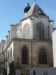 Eglise Saint-Nicolas - Français:   Côté abside,dirigée vers le nord-est.