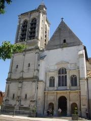 Eglise Saint-Nizier - Français:   Église Saint-Nizier de Troyes (Aube, France): façade occidentale