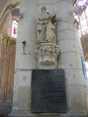 Eglise Saint-Nizier - Église Saint-Nizier de Troyes (Aube, France): Moïse et les 10 commandements