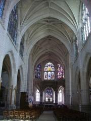 Eglise Saint-Nizier - Français:   Église Saint-Nizier de Troyes (Aube, France): nef
