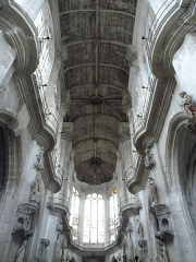 Eglise Saint-Pantaléon - English: Wooden ceiling of St Pantaleon's church in Troyes, France - 18th C.