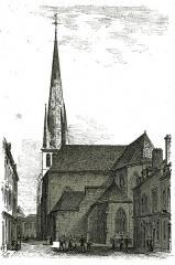 Eglise Saint-Rémy - Français:   sur un dessin de Fichot.