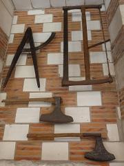 Hôtel de Mauroy - Français:   Appareillage en damier de tuile et de craie employé dans d\'autres demeures de Troyes. C\'est aujourd\'hui le Musée de l\'Outil et de la Pensée Ouvrière.