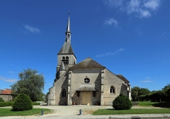 Eglise - Nederlands: Vendeuvre-sur-Barse (departement Aube, Frankrijk): de Sint-Pieterskerk