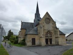 Eglise - English: Amagne (Ardennes) église Saint-Martin, façade