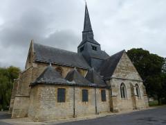 Eglise - English: Amagne (Ardennes) église Saint-Martin, vue latérale
