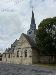 Eglise - English:  Amagne (Ardennes) église Saint-Martin, vue angulaire
