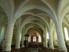 Eglise - English:   Église Saint-Rémi d\'Aouste, intérieur, centre