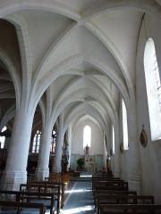 Eglise - English:   Église Saint-Rémi d\'Aouste, intérieur, coté droite