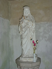 Eglise - English: Église Saint-Rémi d'Aouste, statue Ste Philomène