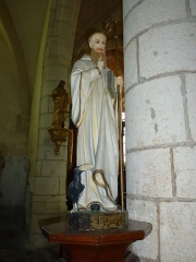 Eglise - English:   Église Saint-Rémi d\'Aouste, statue St.Benoit