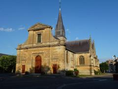 Eglise - English: Attigny (Ardennes) église Notre-Dame, façade