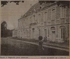 Eglise abbatiale de Blanchefosse (restes) - Français:   vue du début du XXe siècle de l\'Abbaye de Bonnefontaine.