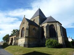 Eglise - English:   Charbogne (Ardennes) église Saint-Rémi, chevet