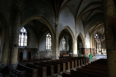 Eglise Saint-Lie de Mohon - Français:   nef et bas côté de l\'église .