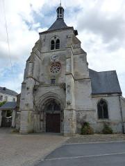 Eglise Saint-Thibault - English: Château-Porcien (Ardennes) église Saint-Thibault, façade