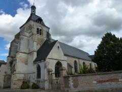 Eglise Saint-Thibault - English: Château-Porcien (Ardennes) église Saint-Thibault, vue latérale