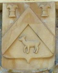 Château - Français:   L\'Échelle (Ardennes) château, portail, détail du blason