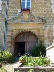 Château - English: L'Échelle (Ardennes) château, portail