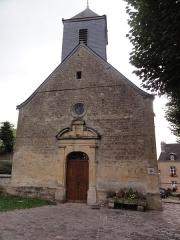 Eglise Saint-Denis - English: Évigny (Ardennes) église, façade