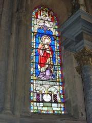Eglise - English: Launois-sur-Vence (Ardennes) église, vitrail 02
