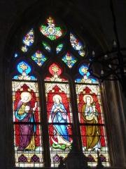 Eglise - English: Launois-sur-Vence (Ardennes) église, vitrail 07