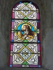Eglise - English: Launois-sur-Vence (Ardennes) église, vitrail 09