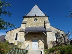 Eglise - English: Saint-Loup-Terrier (Ardennes) Église Saint-Loup porche