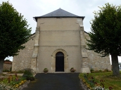 Eglise Saint-Crépin Saint-Crépinien - English: Saulces-Champenoises (Ardennes) église, façade