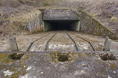 """Plate-forme d'artillerie - English:  Emplacement """"Langer Max"""", western ammunition elevator; Semide, Ardennes, France."""