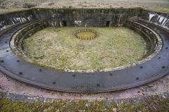"Plate-forme d'artillerie - English:  Emplacement ""Langer Max"", platform; Semide, Ardennes, France."