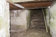 "Plate-forme d'artillerie - English:  Emplacement ""Langer Max"", northeastern shelter; Semide, Ardennes, France."