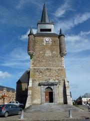 Eglise - English: Église Saint-Nicolas de Signy-le-Petit, tour vue de l'ouest