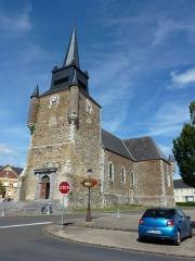 Eglise - English: Église Saint-Nicolas de Signy-le-Petit, vue du sud-ouest