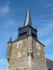 Eglise - English: Église Saint-Nicolas de Signy-le-Petit, tour vue du sud-ouest