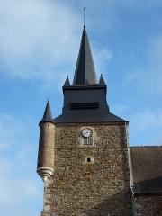Eglise - English: Église Saint-Nicolas de Signy-le-Petit, tour vue du sud