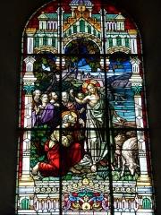 Eglise - English: Église Saint-Nicolas de Signy-le-Petit, vitrail 01