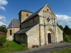 Eglise - English: Sorcy-Bauthémont (Ardennes) église Notre-Dame, façade