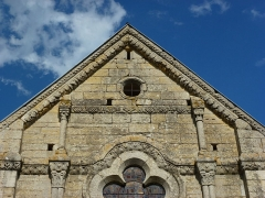 Eglise - English: Sorcy-Bauthémont (Ardennes) église Notre-Dame, pignon de la façade