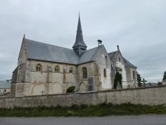 Eglise - English: Thugny-Trugny (Ardennes) église Saint-Loup extérieur