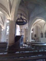Eglise - Français:   Intérieur de l\'Eglise de Tournes