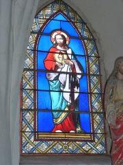 Eglise - English: Viel-Saint-Rémy (Ardennes) Église Saint-Rémi , vitrail 06